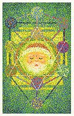 Holiday chakra greeting cards created by artist Mark Breskin