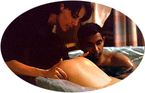 Mom and Dad in Tub, Doula Outside